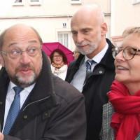 Martin Schulz, MdB mit Ob Kay Blankenburg und Sabine Dittmar, MdB