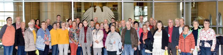 Besuchergruppe 2019 10 im Bundestag